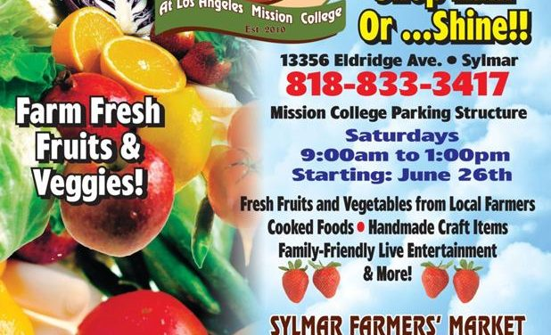 Local Farmers' Market – Saturdays starting June 26
