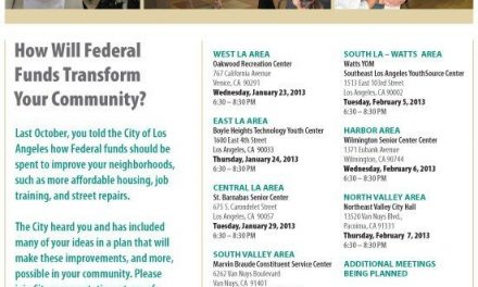 Consolidated Plan Community Follow-Up Meetings