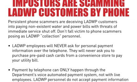 Alert! Imposters Are Scamming LADWP Customers By Phone