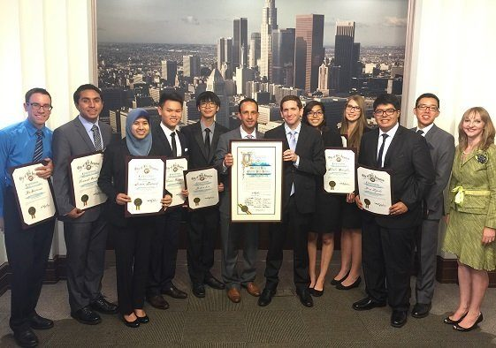 Granada Hills Charter High School Academic Decathlon Team Honored at City Hall