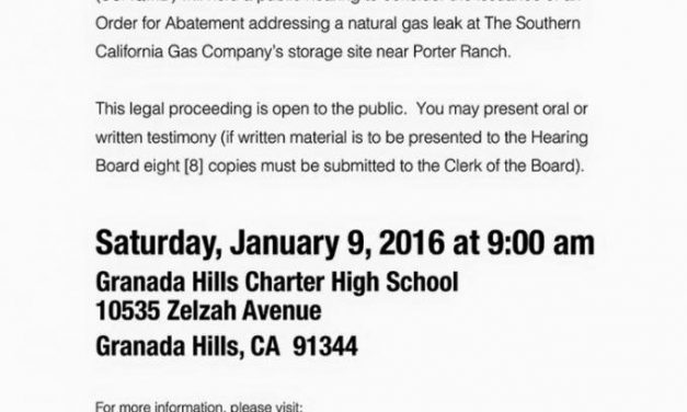 Aliso Canyon Gas Leak Order of Abatement Meeting