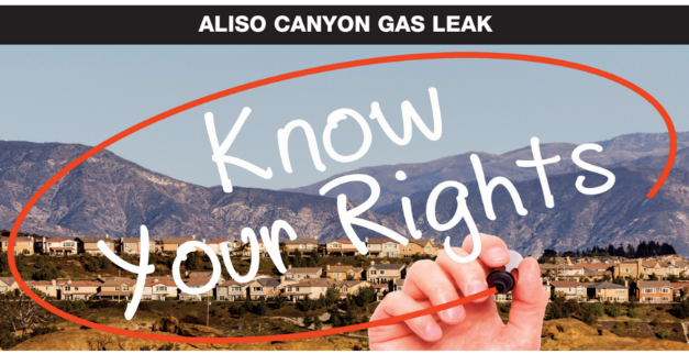 Archived News: Know Your Rights: Legal Town Hall for Residents Affected by the Aliso Canyon Gas Leak – Feb. 2