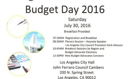 Neighborhood Council  Budget Day 2016