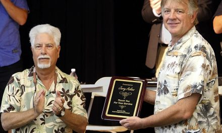 Longtime Granada Hills Volunteer, Jerry Askew, Honored at Recent GHSNC Meeting