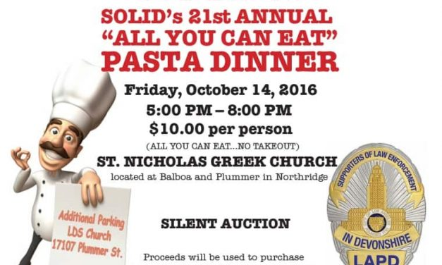 "SOLID's 21st Annual ""All You Can Eat"" Pasta Dinner"