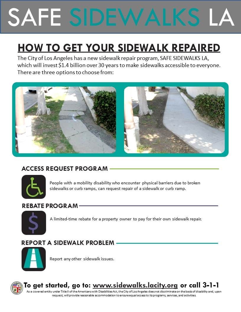 SAFE SIDEWALKS LA