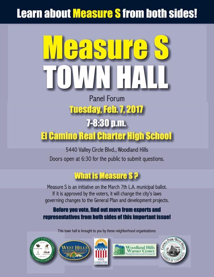 Measure S Town Hall Tuesday, Feb 7