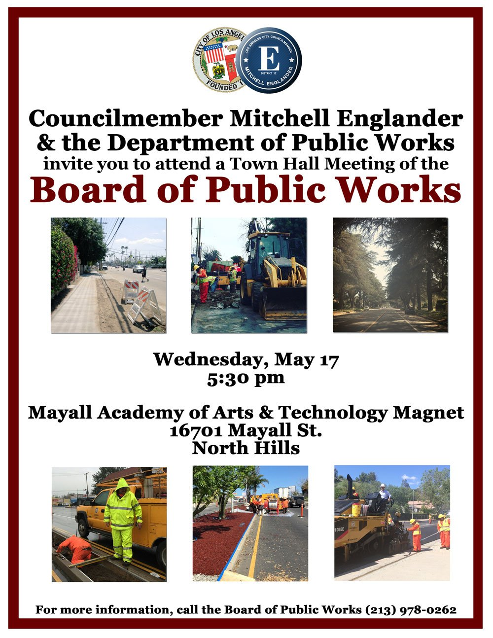 CD 12 Board of Public Works Town Hall