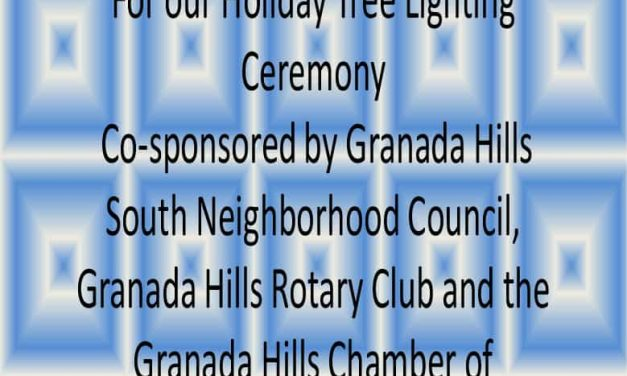 Granada Hills Tree Lighting Celebration – Saturday, December 2 at 6pm