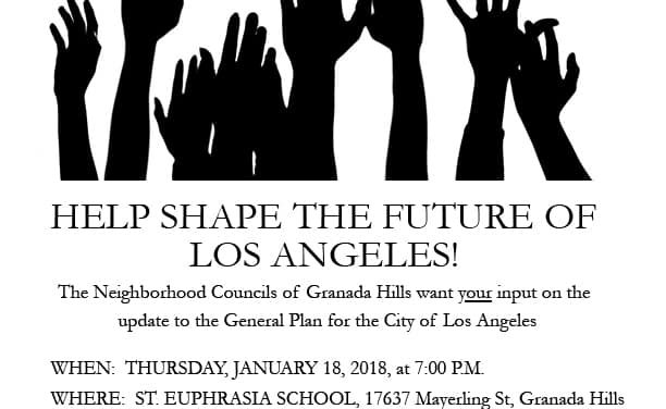 Granada Hills Community Forum for the Los Angeles General Plan