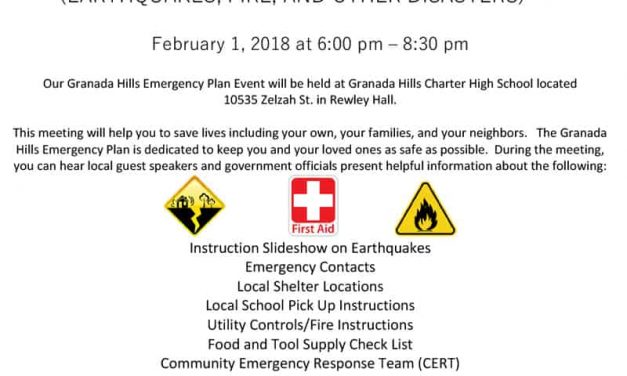 Granada Hills Emergency Plan Event