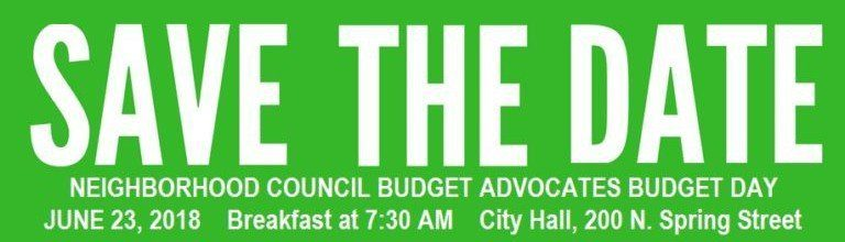 Discuss Delivery of City Services in Your Neighborhood at Budget Day June 23rd at City Hall