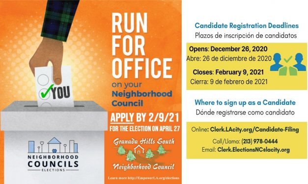 Now is your chance to make a difference in Granada Hills South!